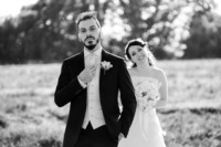 bride and groom shooting - parco sposi