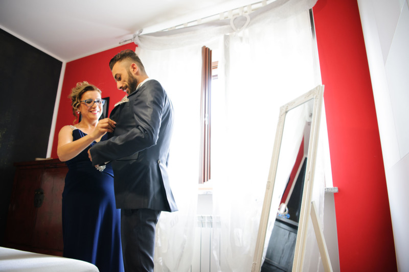 vestizione sposo