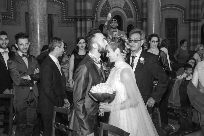incontro degli sposi in chiesa