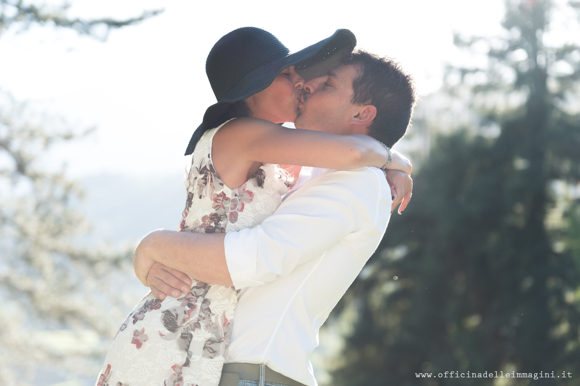 bacio prenozze Michela e Peter
